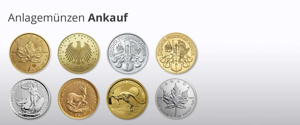 Münzen Ankauf Anlagemünzen Verkaufen